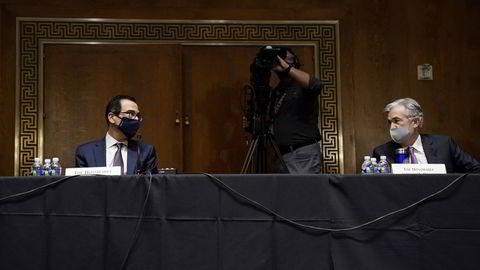 USAs finansminister Steven Mnuchin og USAs sentralbanksjef Jay Powell er uenige om hvorvidt ekstraordinære lånetiltak bør forlenges inn i 2021 eller ei.