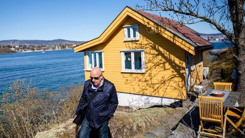 Eiendomsmegler Marius Berger la i mai ut denne hytta på Nakholmen for åtte millioner kroner