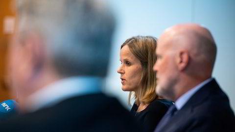 Finanstilsynet kommer med hard kritikk av DNB. Ann Viljugrein, direktør for bank- og forsikringstilsyn, står oppført som forfatter av rapporten.