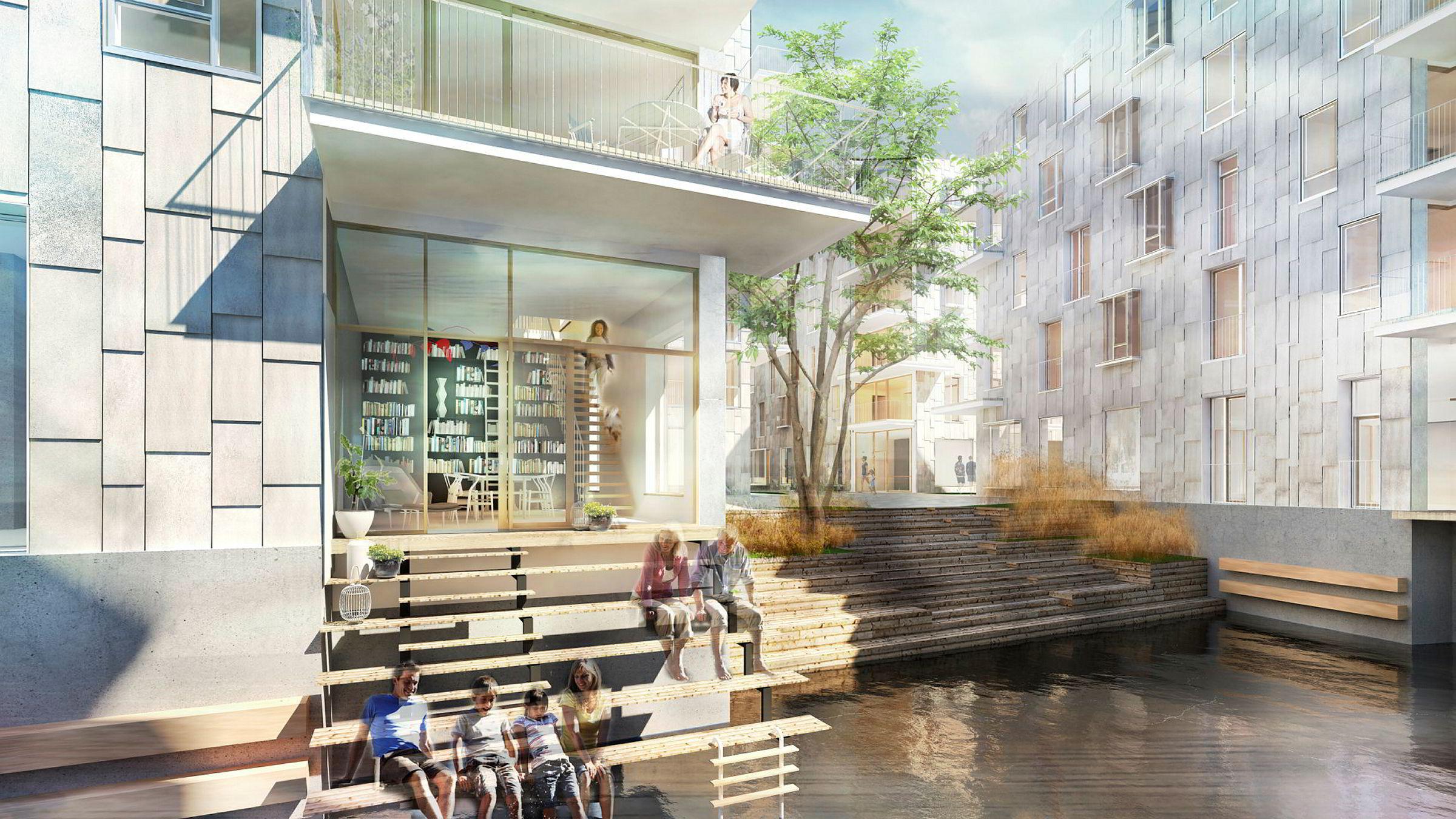 Boligdirektør Jørgen Blix i Oslo S Utvikling forteller at de kunne salgsstartet boligprosjektet i slutten av 2017, men valgte å vente som følge av usikkerhet i markedet.