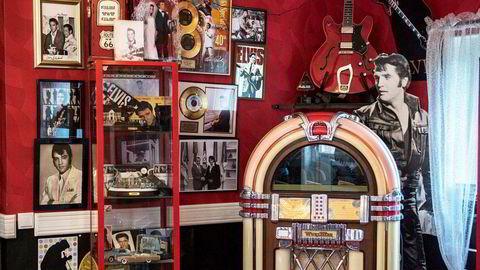 Kongen lever, her i Anna-Pia Anderssons Elvis-kafé i Värmland i Sverige.