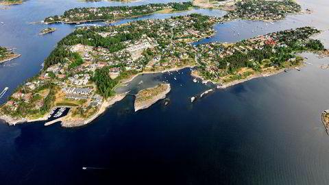 Det ble bråk etter salg av en bolig her på Snarøya utenfor Oslo.