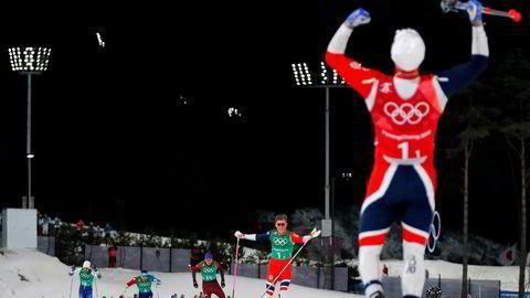 Langrennsduoen Johannes Høsflot Klæbo og Martin Johnsrud Sundby gikk inn til gull på lagsprinten under OL i Pyeongchang onsdag. 819.000 seere fikk med seg finaleløpet på TVNorge.