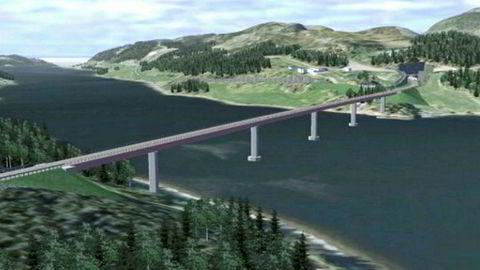 Beitstadsundbrua blir 580 meter lang. Foto: Statens vegvesen / NTB scanpix