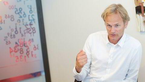 Erik Haugland daglig leder First Fondene, er ikke fornøyd med avkastningen deres det siste året.