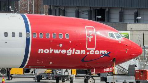 Norwegian-fly på Gardermoen flyplass.