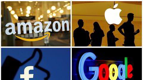 Flere av de store teknologiselskapene i USA, deriblant Amazon og Apple, falt kraftig på Wall Street torsdag.