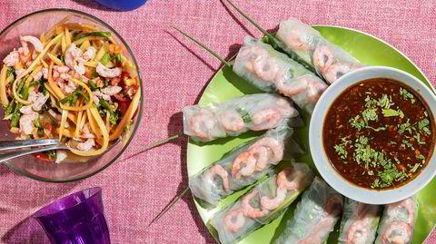 Vietnam-nam. Treretters vietnamesisk piknik. Prøv å se på plasten som en venn, slik sørøstasiatene gjør.