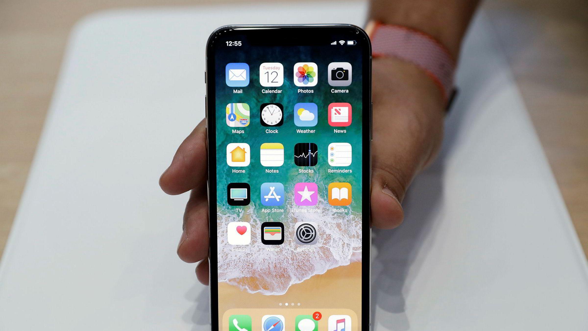 Apples nye iPhone X ble vist frem for første gang forrige uke.