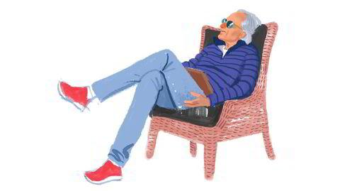 Bakoverlent stil på Solli. Påfallende mange herrer med rødt fottøy. Kanskje det er «fresht» eller litt «gøyalt»? NB: Kvinnene velger heller sko med detaljer i sølv eller gull.