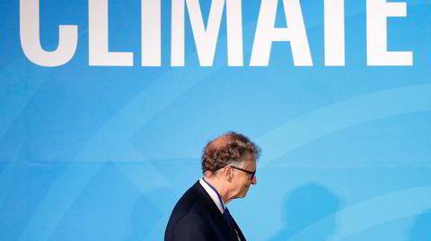 Klimaendringen har holdt Bill Gates våken om nettene, men nå smeller han sin nye bok i bordet. Her er han avbildet på klimamøte i FN høsten 2019.