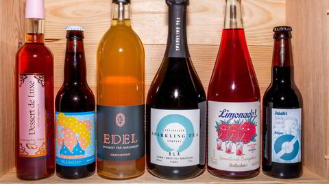 Mye godt og alkoholfritt: Dessert de Luxe, Drink in the Snow Xmas Ale, Edel Eplemost Gravenstein, Sparkling Tea Blå, Balholm bringebær limonade og Nøgne Ø Julefri.