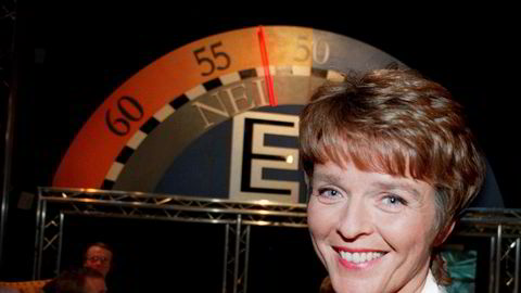 Senterparti-leder Anne Enger Lahnstein gledet seg da pilen i NRKs valgstudio viste at nei-siden vant folkeavstemningen om EU-medlemskap i 1994.