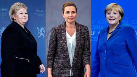 Erna Solberg, Mette Frederiksen, Angela Merkel